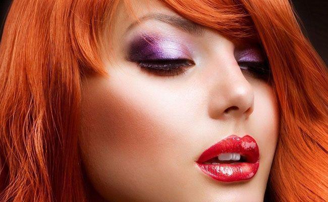 Maquiagem 3D para ruivas