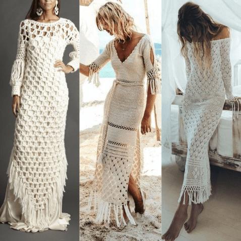 Tendências em vestido de Crochê