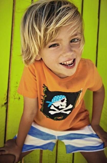 Corte de Cabelo Masculino infantil surfista